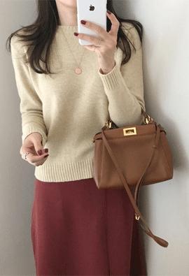 [Cashmere] Tier round knit (5color)