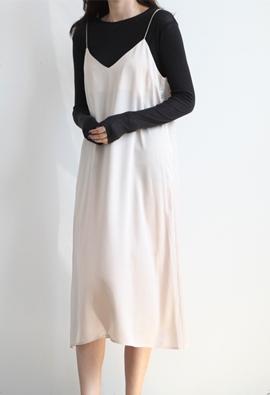 Midnight slip dress (2color)