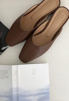 Square toe slipper (5color)