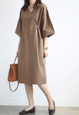 Buckle strap dress (3color)