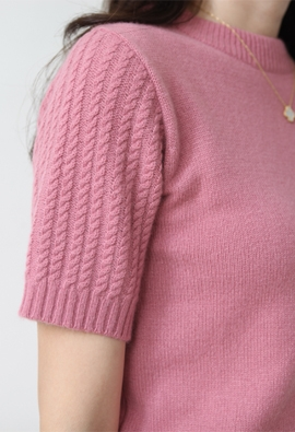 [Cashmere] Twist sleeve knit (5color)