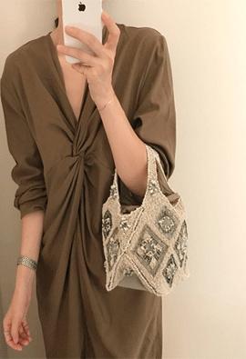 Grace cotton dress (2color)