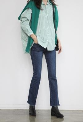 Boxy stripe shirts (3color)