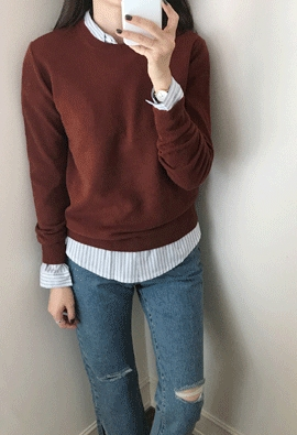 Wool basic knit (2color)