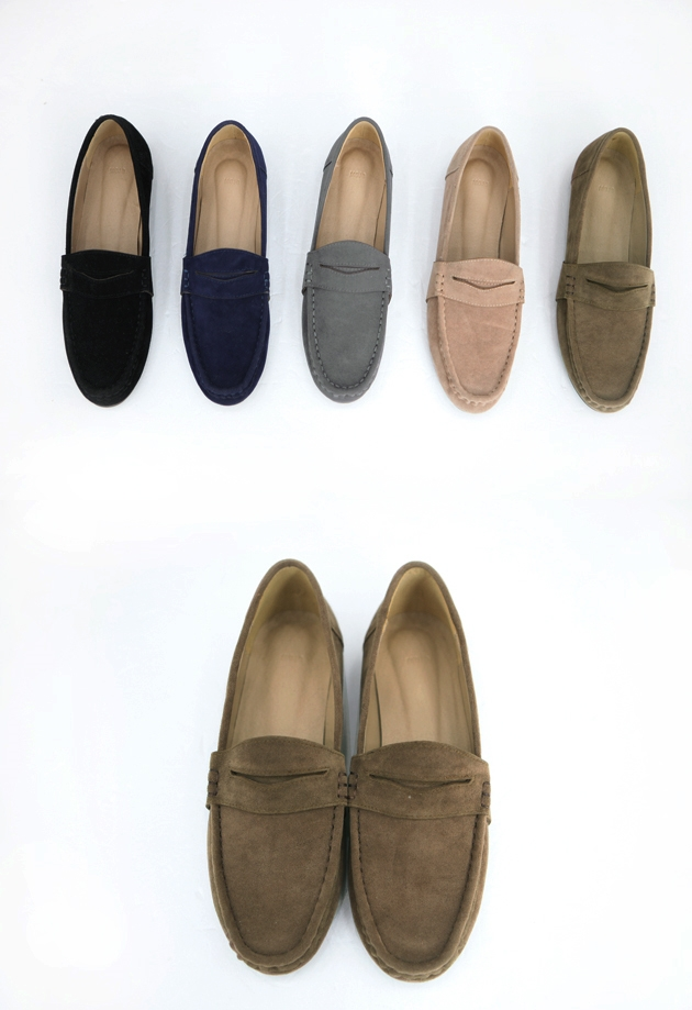 Suede penny shoes (5color)