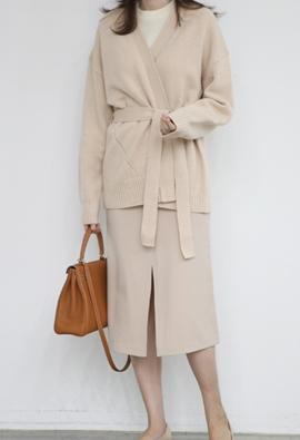 Front slit skirt (3color)