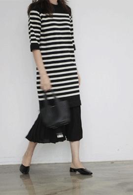 Stripe knit dress (2color)