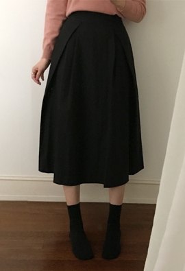 [Back band] Tuck in flare skirts (3color)