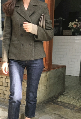 Uneven wool jacket (2color)