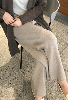 [Band type] Belie knit pants (3color)