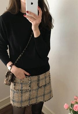 [Cashmere] Pro round knit (4color)