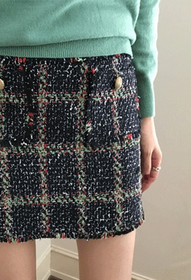 Tweed pocket skirts (3color)