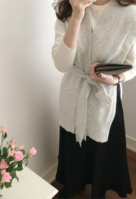 [Cashmere] String vest (3color)