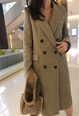 Herringbone double coat (2color)