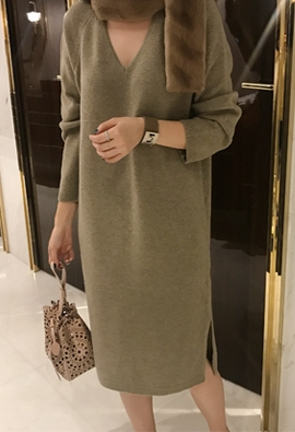 Wool cashmere dress (3color)