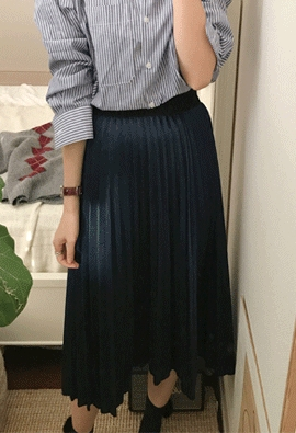 [Band Type] Glow pleats skirts (3color)