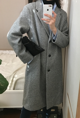 Pile herringbone coat (2color)
