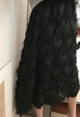 [Band Type] Black peacock skirts