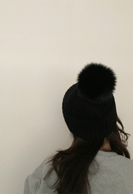Fox pompom beanie (3color)