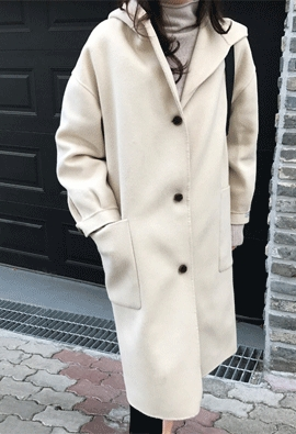 [HandMade] Joan hood coat (3color)