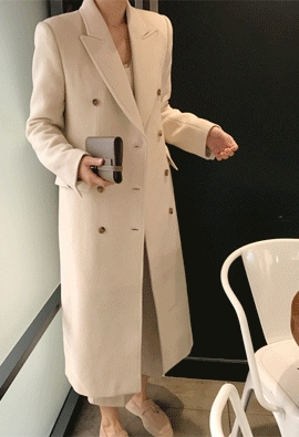 Wool cashmere double coat (3color)
