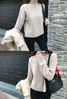Half turtleneck knit (3color)