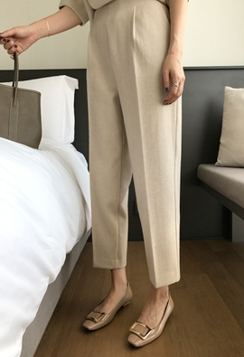 [Back band] Anne wool slacks (4color)