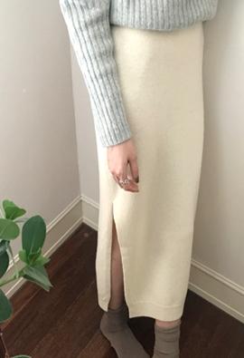 Slit up knit skirts (2color)