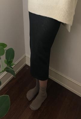 [Band] [Brushed] Slim midi skirts (4color)