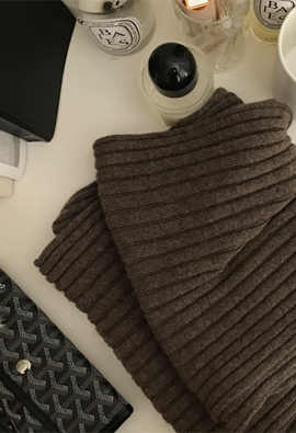 Wool cashmere muffler (3color)