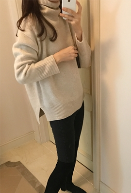 [Cashmere] Resell turtle knit (5color)