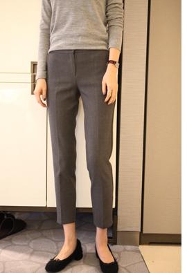 [Brushed] [back band] Attach slacks (gray)