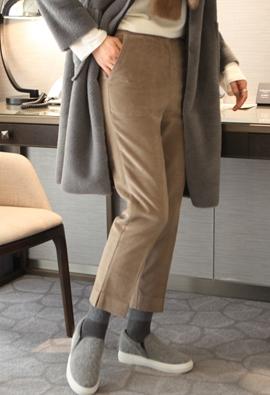 [Back band] One button corduroy pants (2color)