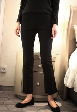 [Brushed] [band] Slit bootcut pants (3color)