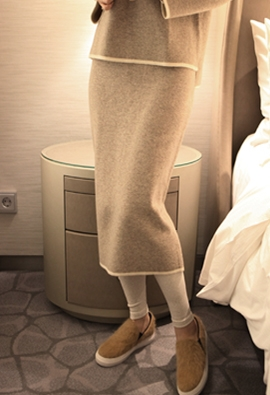 Reverse knit skirt (2color)