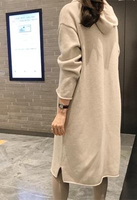 [Cashmere] Hood knit dress (3color)