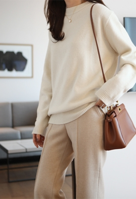 Holly round knit (5color)