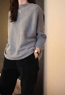 Boatneck ray knit (2color)