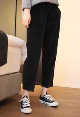 347 corduroy pants (black)