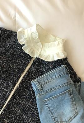 Satin frill blouse