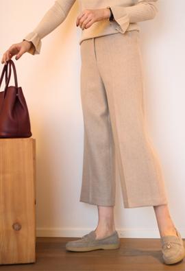 Wool crop slacks (2color)