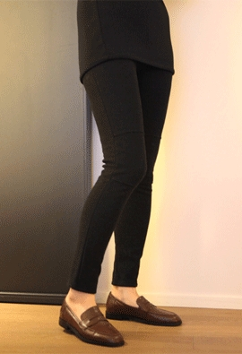 [Brushed] [band] Kneepad leggings pants (4color)