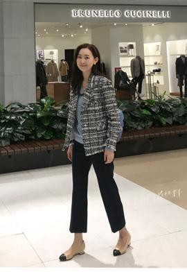 Snap tweed jacket (2color)