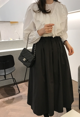 [Band type] Flare volume skirts (2color)