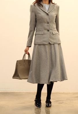 London check jacket (gray)