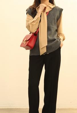 Bran knit vest (2color)