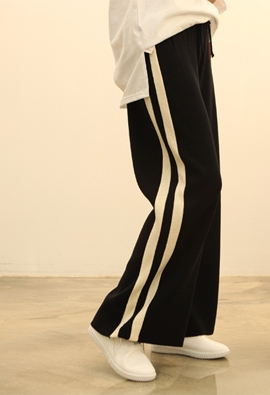 [Band Type] Street knit pants (2color)