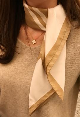 Square silk scarf (2color)
