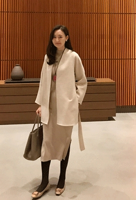 Oatmeal wool jacket