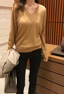 [Cashmere] It V knit (3color)